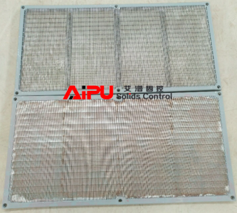 Wedge mesh shaker screen