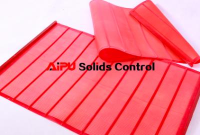 Composite shaker screen and polyurethane shaker screen