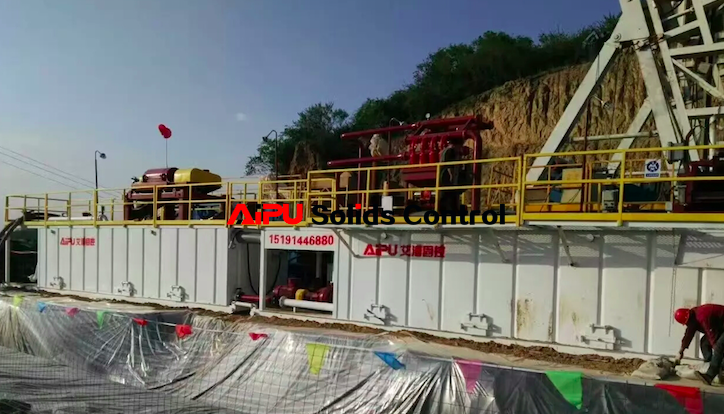 Drilling mud circulation system configuration for oil well drilling