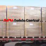 Screens on truck for delivery