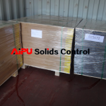 Framed screen panel in container